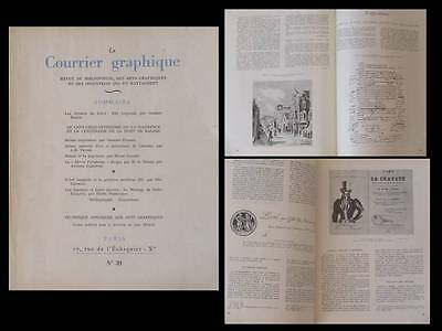 Le Courrier Graphique N°39 1949 Balzac, Edy Legrand