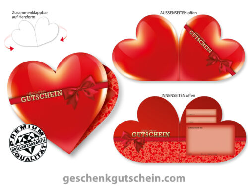 Heart vouchers for all industries and occasions bl453