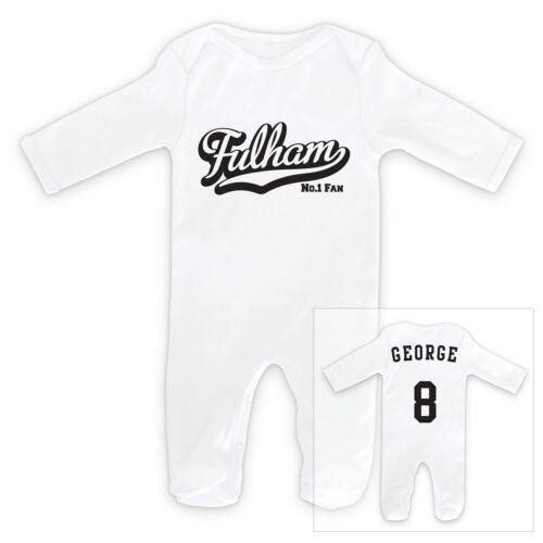 FULHAM Football Personalised Baby Sleep Suit Romper