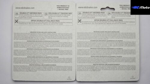 Yamaha MT07 MT09 Plaquettes Frein avant EBC FA252HH 2013-2017