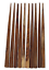 """10 Natural Light Wood HAIR STICKS 6"""" End drilled DIY from India  Sealed"""