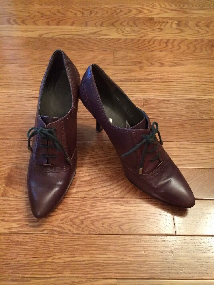 Circa Joan David Women's Heels Pumps Ankle Boots Lace Up Victorian Brown 8.5