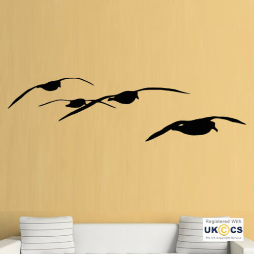 Wall Stickers Seagulls Birds Animal Beach Fly Wings Living Art Decal Vinyl Room