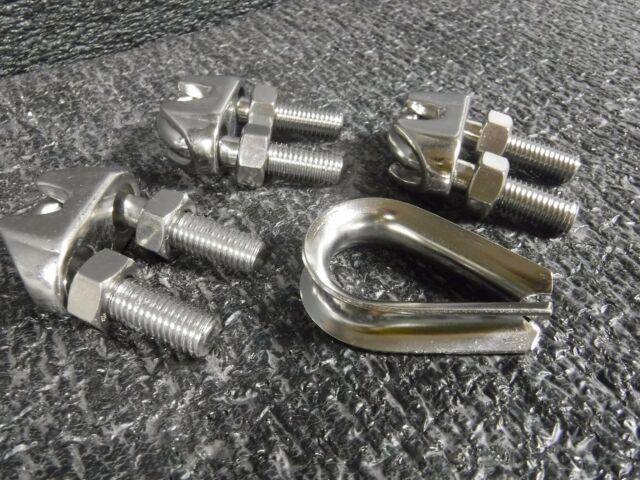 Dayton Wire Rope Clip and Thimble Kit 1//2 for Wire Rope Dia U-Bolt 304 Stainless Steel 2VKK6-1 Each