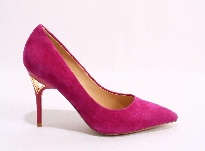 ReJois by Gianni Lorenzi 050 Dark Pink Suede Pointy Stiletto Shoes 36.5 /