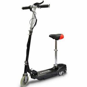 vidaXL-Monopattino-Elettrico-Nero-120W-12-Km-h-per-Bambini-Scooter-con-Sella