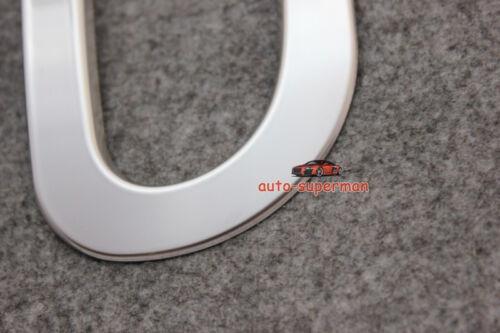 S//Steel rear Fog Light lamp cover trim Chrome For Nissan Qashqai 2014-2016