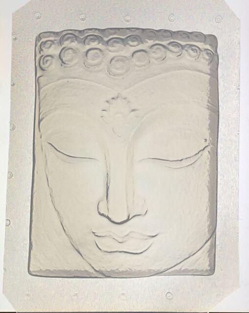 "Flexible Resin Orgone Orgonite Mold Buddha Mould 5"" x 3.75"" x 1"" Deep"