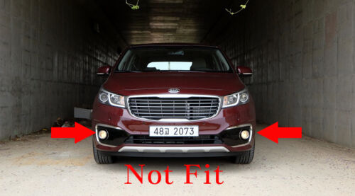 Kia Sedona Carnival Genuine OEM Fog Lamp Light /& Cover 4ea For 2015  2016~2018