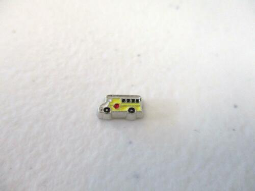 Silver Tone School Bus Driver Floating Charm for Memory Locket 44