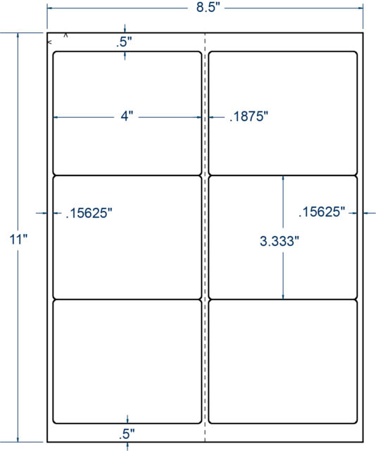 "1-3//4/"" x 2//3/"" Perm Sheeted White Matte Photo Paper Compulabel 250 Sheet 331683"