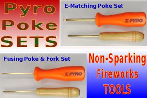 SET-Pyrobolic-TM-Tip-Brass-Pyro-Poke-Sparkless-Awl-Tools-Non-Sparking-Fireworks