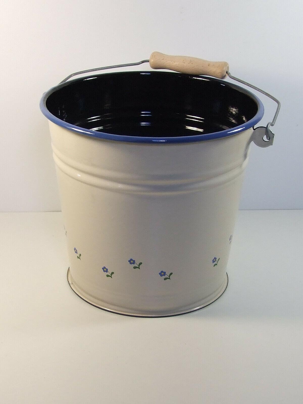 Kücheneimer Rot mit weißen Tupfen 6 Liter Emaille Eimer mit Deckel Emailleimer