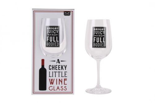Personnalisé fun cheeky petit verre de vin avec slogan ajouter votre propre message