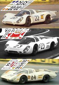 Adroit Calcas Porsche 908 Lh Le Mans 1969 22 23 64 1:32 1:24 1:43 1:18 Slot Decals Limpide à Vue