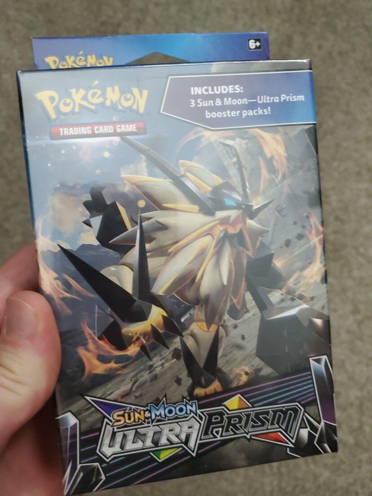 Pokemon TCG Sun /& Moon Ultra Prism Booster Pack Hanger Box 3 Boost Packs Sealed
