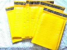 30 New Yellow 4x8 Bubble Mailers Neon Padded Shipping Mailing Envelopes 000