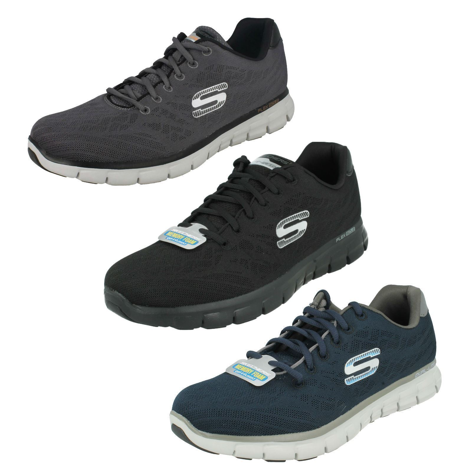 Mens skechers synergy-fine-tuning 51524 sneakers lace up