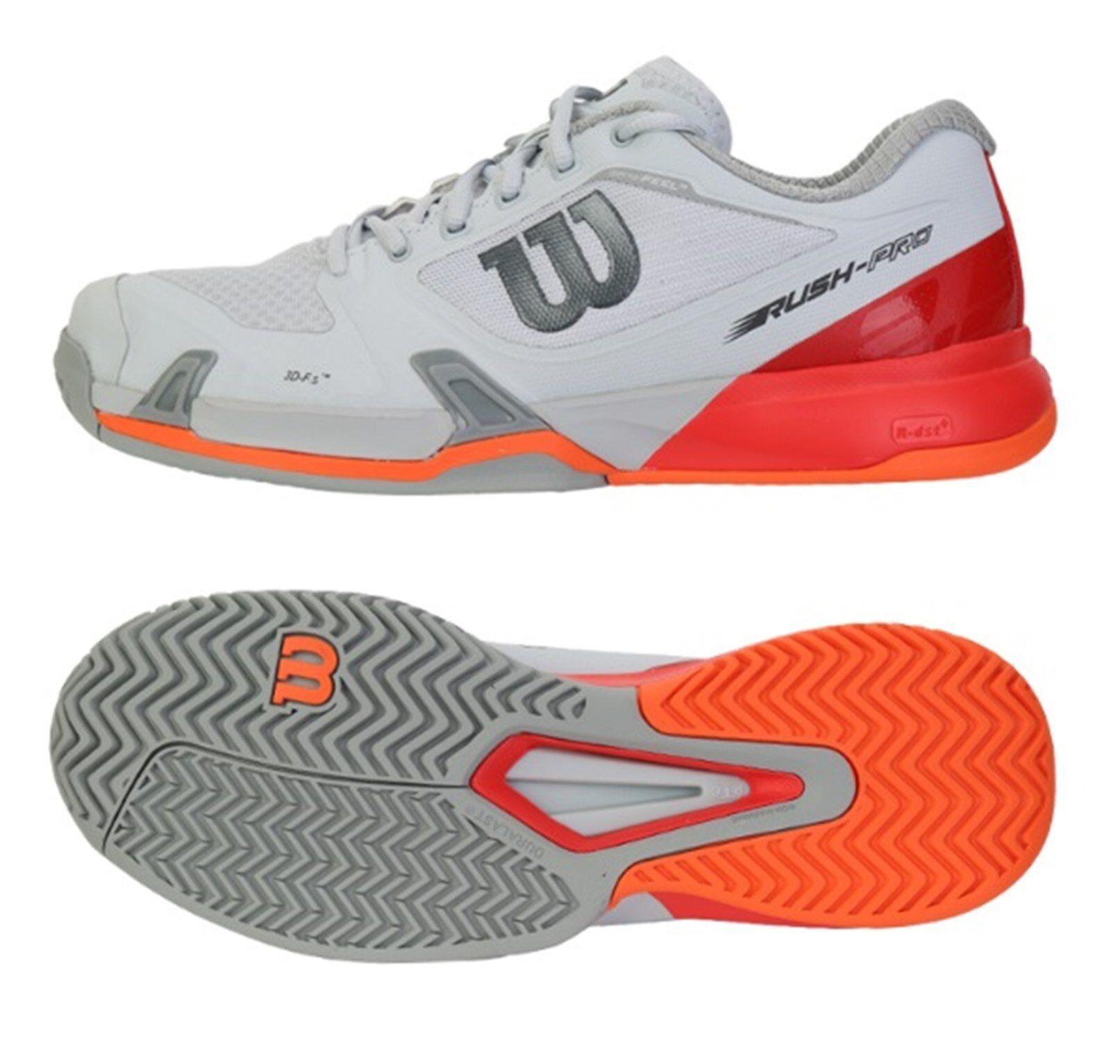 Wilson Rush Pro 2.5 De Hombre Zapatos tenis de correr gris Raqueta De Tenis Zapato WRS322630