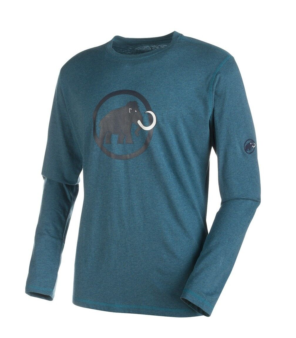 Mammut Logo Long Sleeve Men, Longsleeve Men's Shirt, Orion Melange