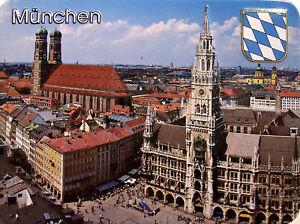 München Kühlschrankmagnet 3D Fridge Refrigerator Magnet 6 x 8 x 0,4 cm