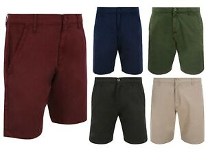 Mens-Cotton-Chino-Summer-Shorts-Various-Colours