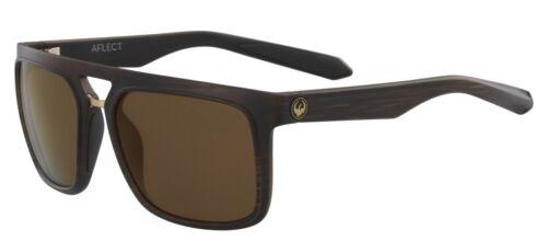 NEW Dragon Aflect Matte Woodgrain Copper Ion Mens Tr90 Square Sunglasses Ret$150