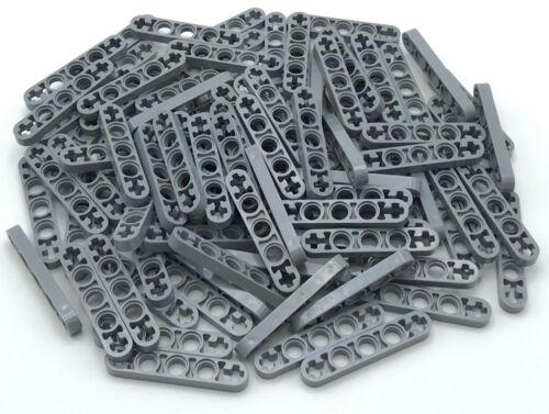 Lego 100 New Light Bluish Gray Technic Liftarms 1 x 5 Thin w// Axle Holes on End