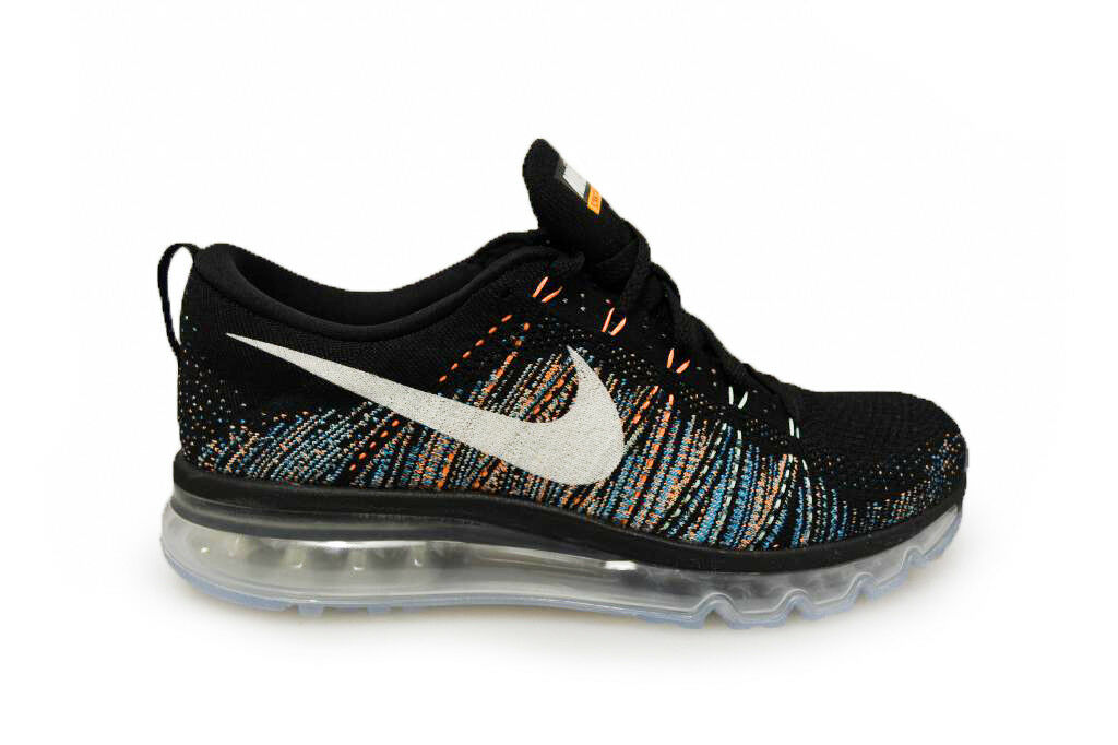 Mens Nike Flyknit Max - 620469 015 - Black White Blue Glow Trainers Cheap and beautiful fashion