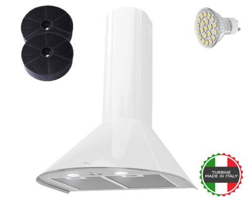 Dunstabzugshaube Turmhaube Kaminhaube Kamin Haube HAAG Mix Weiß 60cm LED-SMD