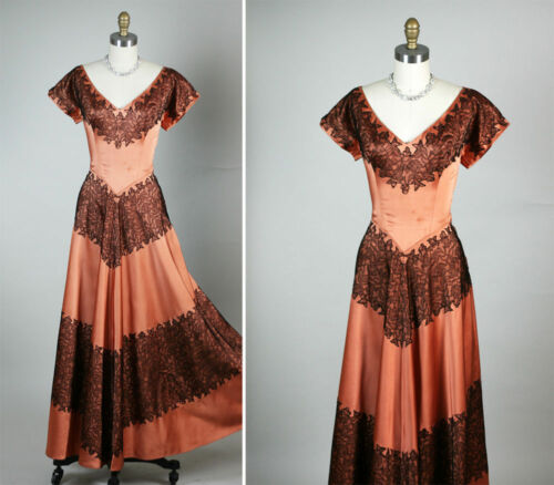 Stunning Satin & Lace Collectible Couture Frank St