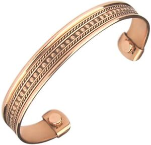 Mens-Women-Pure-Magnetic-Copper-Bracelet-Arthritis-Pain-Relief-Healing-Therapy
