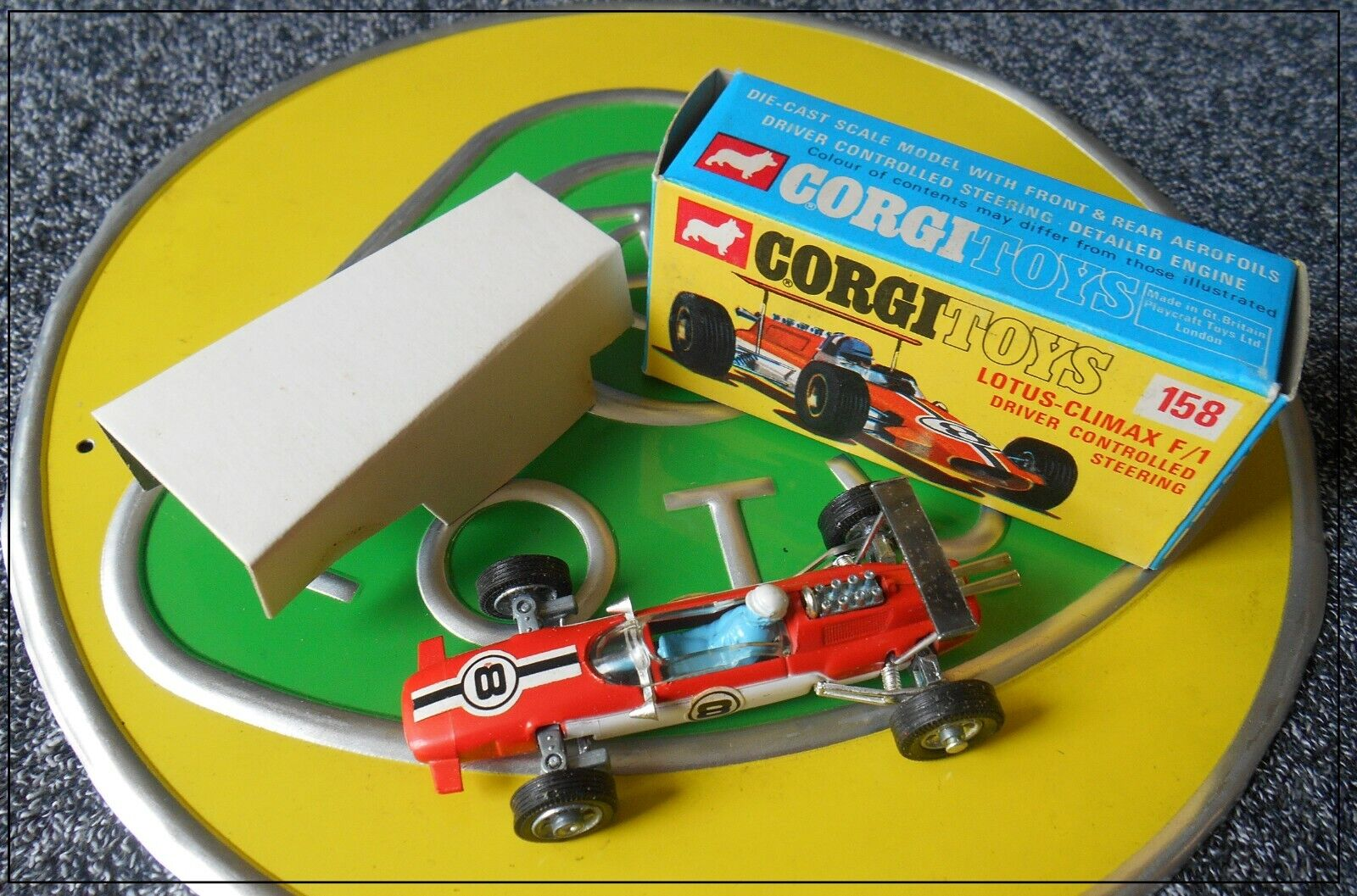 CORGI 158 LOTUS CLIMAX F1 49 49B Comme neuf boxed exceptionnel Hill Rindt SIFFERT