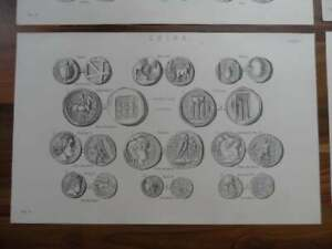 Antique-prints-19th-century-Victorian-era-prints-of-old-ancient-coins