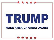Political Yard Sign w/Stake - Trump Make America Great Again - Double Sided