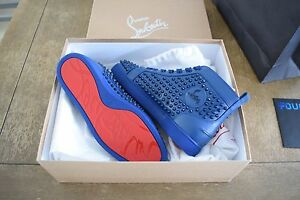 149607f062f Image is loading Authentic-Christian-Louboutin-Louis-Flat-Calf-Spikes -Espadon-