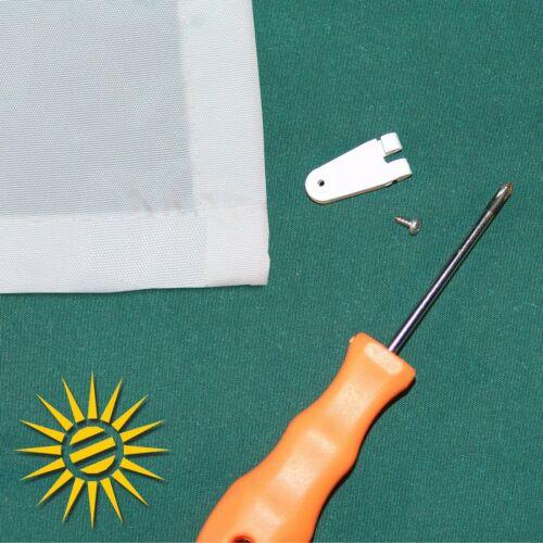 420x140 cm 30 Laufhaken für Seilspannmarkise Wintergarten Sonnensegel weiss ca