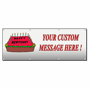 Image Is Loading HAPPY BIRTHDAY CAKE CUSTOM 4 Ft X 8