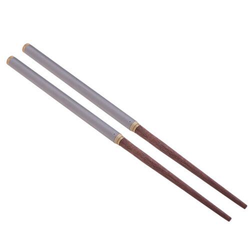 Folding Chopsticks Foldable Titanium Camping Hiking Lunch Dinner Tableware