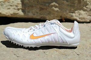 0dd0aed852b0 Details about 07 New Mens SZ 15 Nike Zoom Maxcat 3 White Orange Sprint  Track Spikes 414531 185