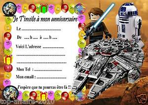 Beliebt 5 cartes invitation anniversaire Lego Star Wars 03 d'autres en  AD32