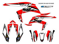 Kfx400 Kfx 400 Kawasaki Graphics Kit Decals Deco Stickers Four Wheeler Quad Red
