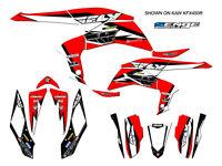 Kfx400 Kfx 400 Kawasaki Graphics Kit Decals Deco Stickers Four Wheeler Quad Red