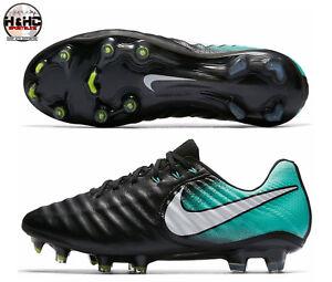 689223fcc962 Nike Tiempo Legend VII FG 897804 002 Black/White-Aqua Women's Soccer ...