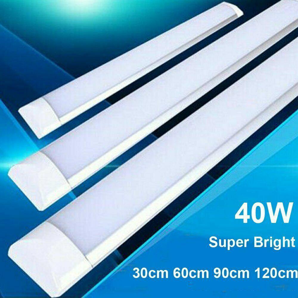 2PCS 4FT LED Batten Tube Light For Garage Workshop Ceiling Panel Dimmable White