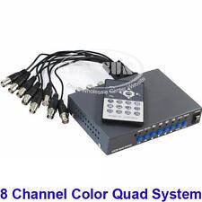 CCTV 8 Channel Digital Color Quad System Video Processor Splitter BNC Switcher K