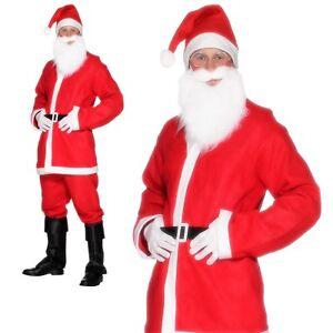 Adulte Homme Noël Père Noël Costume père Noël Déguisements Costume Outfit UK