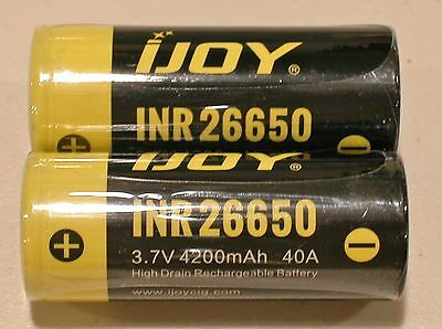 3,7V 3750 mAh 40A Lithium Ionen Akku lose 4 x  iJoy 21700 3,6V
