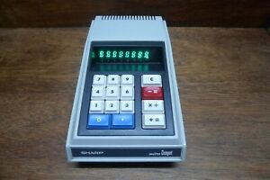 SHARP-QT-8D-ITRON-DISPLAY-VINTAGE-CALCULATOR-WORKS-PERFECTLY