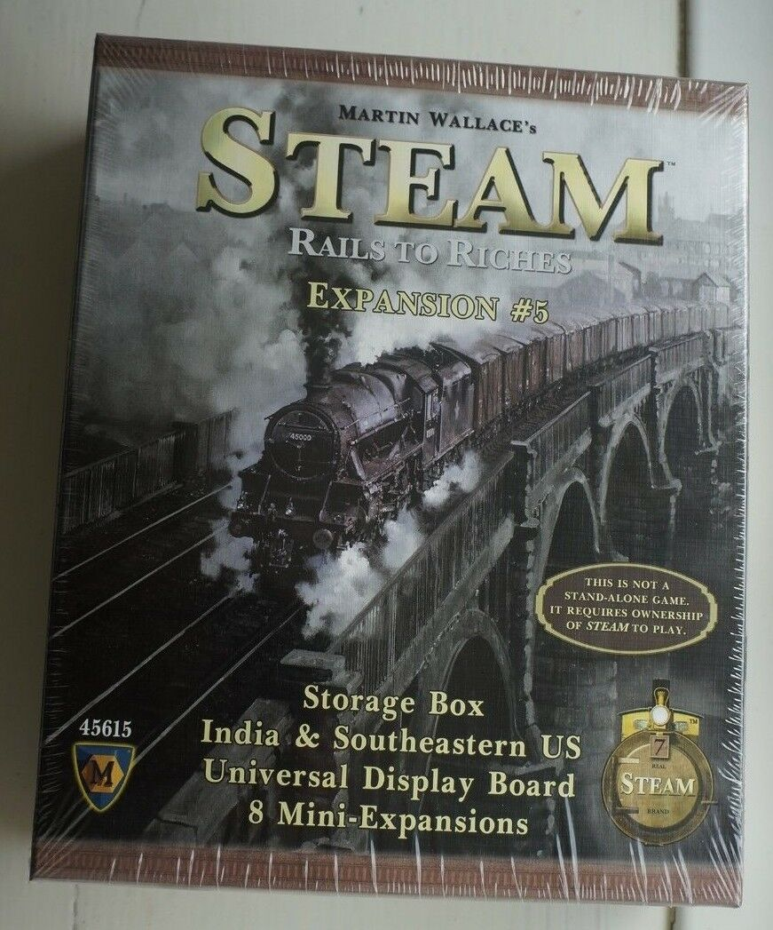Steam Board Game  Map Expansion 5 India and SouthEast USA